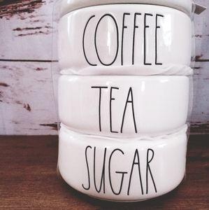 Rae Dunn Coffee Tea Sugar Stackable